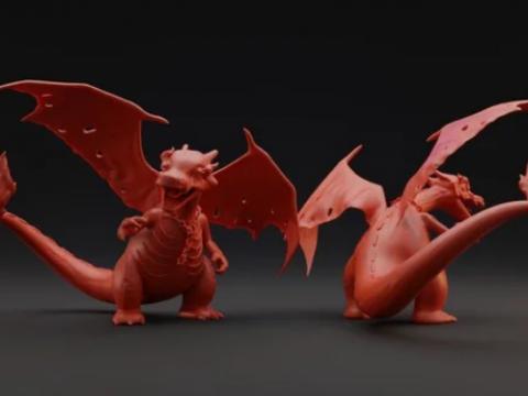 Nightmare Charizard, printable Pokémon