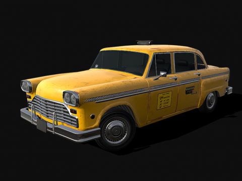 Old Taxicab - Low poly model