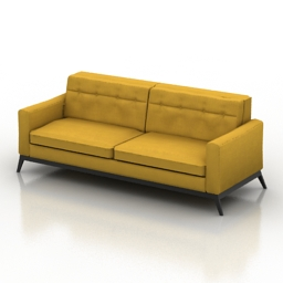 Sofa TrueModern Luna 3d model