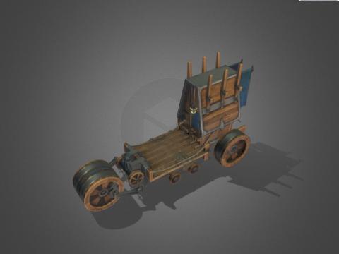 Stylized Caravan Mobile Asset