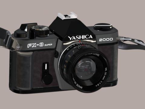 Yashica FX 3 - 2000 3D Model of Camera
