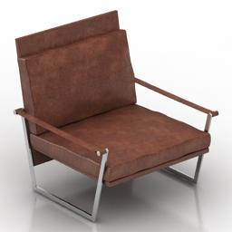 Armchair David Casadesus Mark 3d model