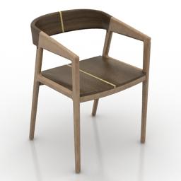 Armchair KK DESIGN STUDIO VIETNAMESE Luxury 3d model