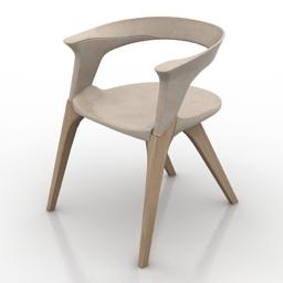 Armchair Lianghao Zha The Doberman Chair 3d model