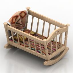 Bed BABY CRADLE 3d model
