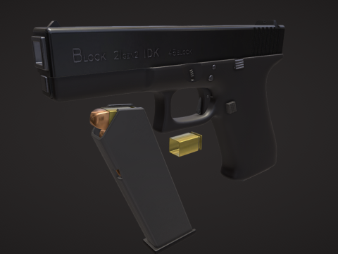 Block cubic Pistol 45