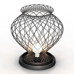 Lamp desk metal 3d model