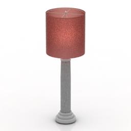 Lamp pink 3d model