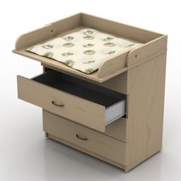 Locker childroom 3d model