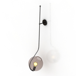 Sconce Roll and hill Fiddlehead wallmount lamp 3d model