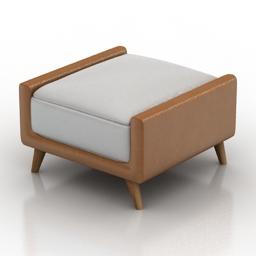 Seat Square ottomans 3d model