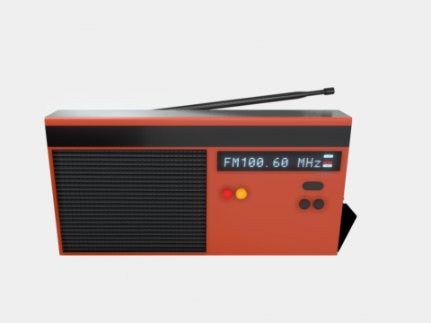 Stylized Game Ready Radio