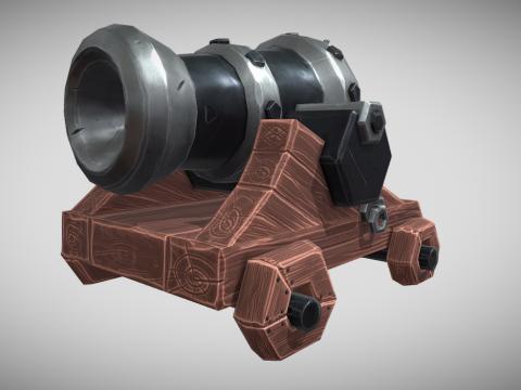 Stylized cannon