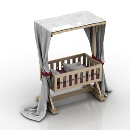 Anna Baby Room Candy Bed 3d model
