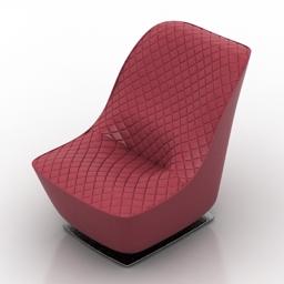 Armchair BADIANE roche bobois 3d model
