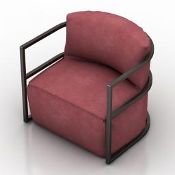 Armchair Eichholtz Chair Emilio 3d model