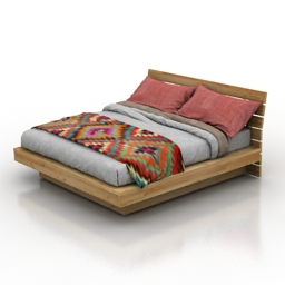 Bed Country 3d model