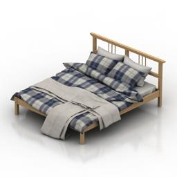Bed IKEA 3d model
