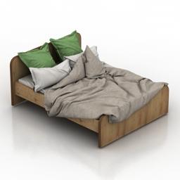 Bed mini 3d model