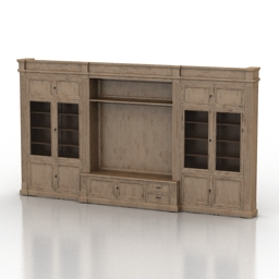 Bookcase Busatto Atelier Modularity System 3d model