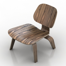 Chair Eames Molded Plywood 3d model