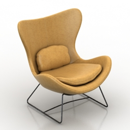 Chair Lazy Armchair by Calligaris 3d model