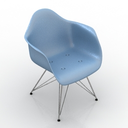 Chair Vitra DAR Plastic 3d model