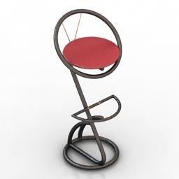 Chair bar Dialma Brown 3d model