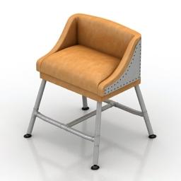 Chair iron scaffold 3d model
