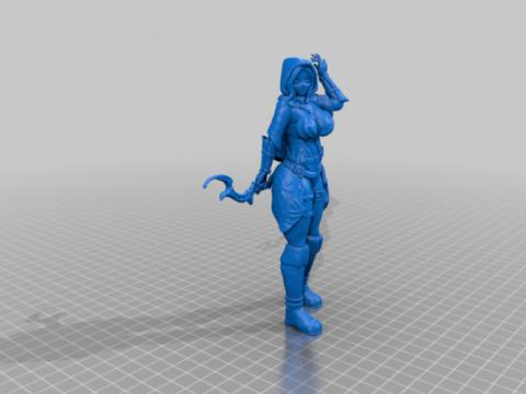 Fantasy female archer action figures/minis