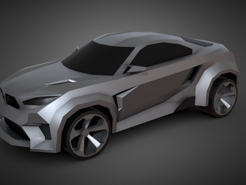 Freestyle 3d car (Low-poly)