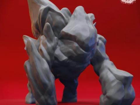 Ice Golem - Tabletop Miniature