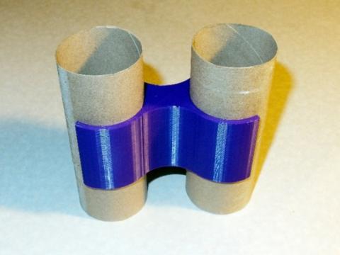 Kids Binoculars From TP Rolls