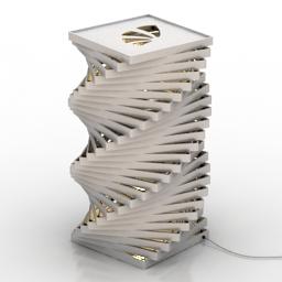 Lamp desk balta 3d model