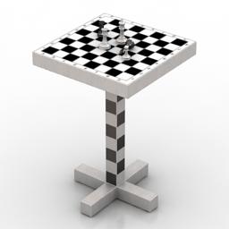 Moooi Chess table 3d model