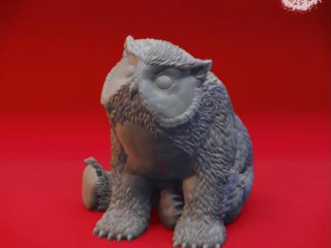 Owlbear Cub - Tabletop Miniature