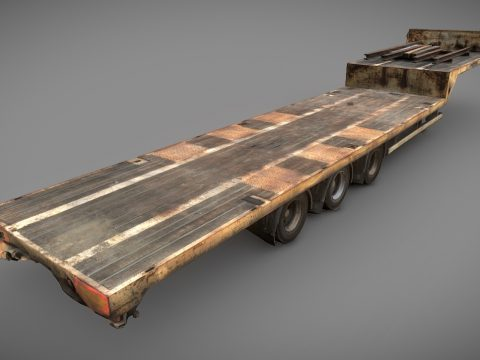 Rusty truck trailer