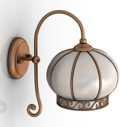 Sconce Arte Lamp A2106AP-1WH Venice 3d model