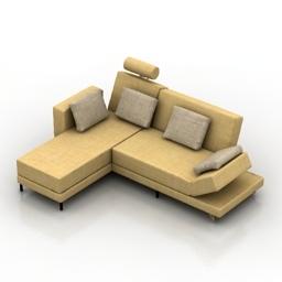 Sofa Four-two Bruhl 3d model
