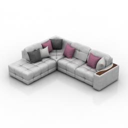 Sofa Grey Kardinal Leonardo 3d model