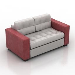 Sofa ikea lennes 3d model
