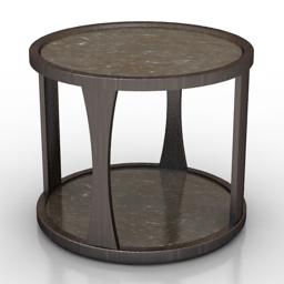 Table Ebony Wooden 3d model