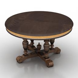 Table Mis En Demeure Ped table Figeac 3d model