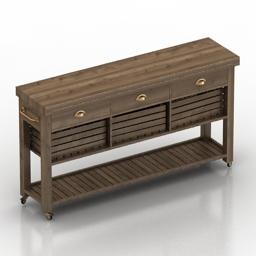 Table kitchen island 3d model