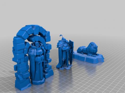 Stately statues - terrain
