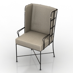 Armchair Caracole Strong Enough For a Man 3d model