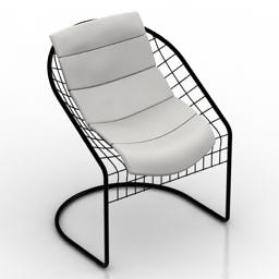 Chair Antonio Citterio Reko 3d model