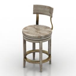 Chair Dalton Counter Stool by Lexington 3d model