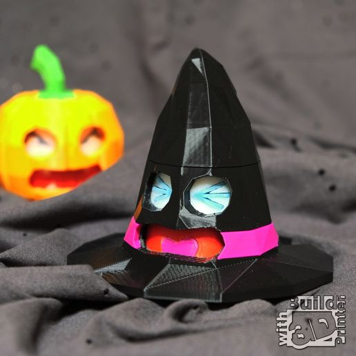 Face Changing Halloween Witch Hat