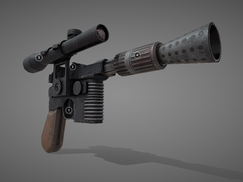 Han Solo's DL-44 Heavy Blaster - Game Ready